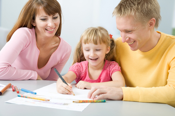 happy-family-writing-letter-together-jpg