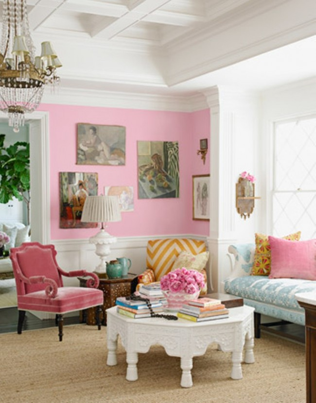 Classy-Pink-Living-Room