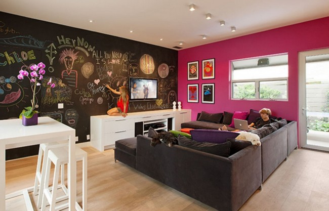 Contemporary-Pink-Living-Room
