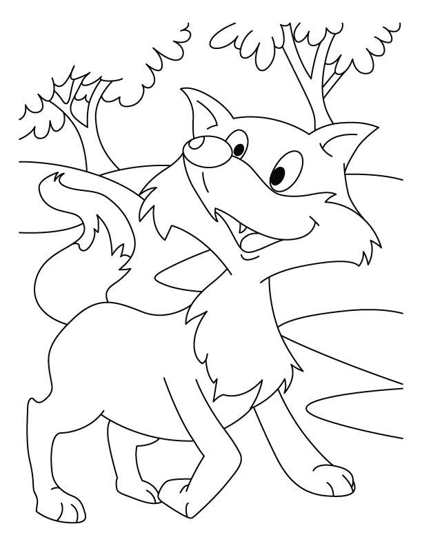 αλεπού για ζωγραφική