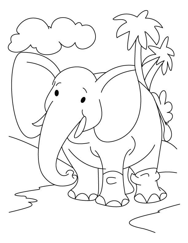 ελεφαντάκι για ζωγραφική