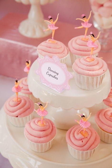 ροζ cupcakes