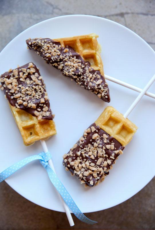 Chocolate-Toffee-Waffles