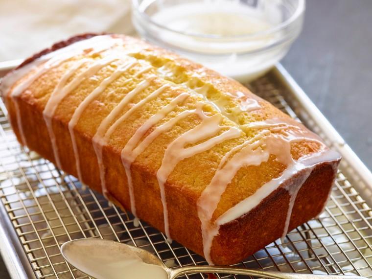 Κέικ λεμόνι, καρύδα με γλάσο λεμονιού