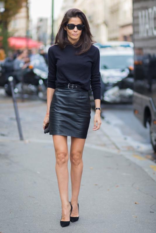 9 τρόποι να φορέσετε τη δερμάτινη φούστα σας  062809a0547