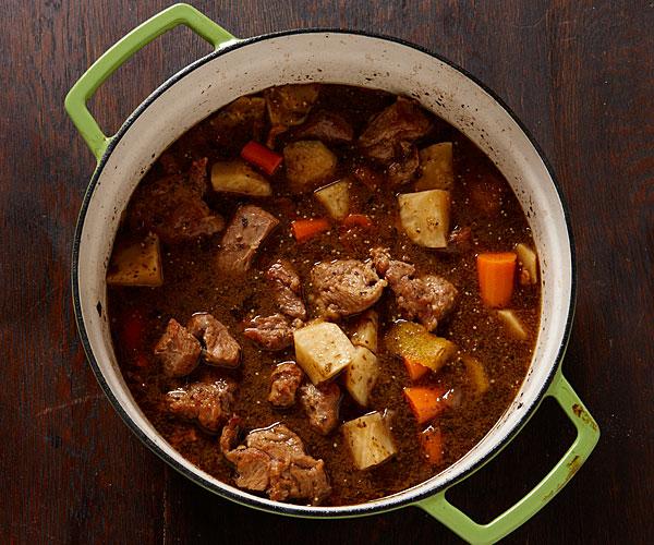 Σούπα με κριθαράκι, λαχανικά και μοσχάρι