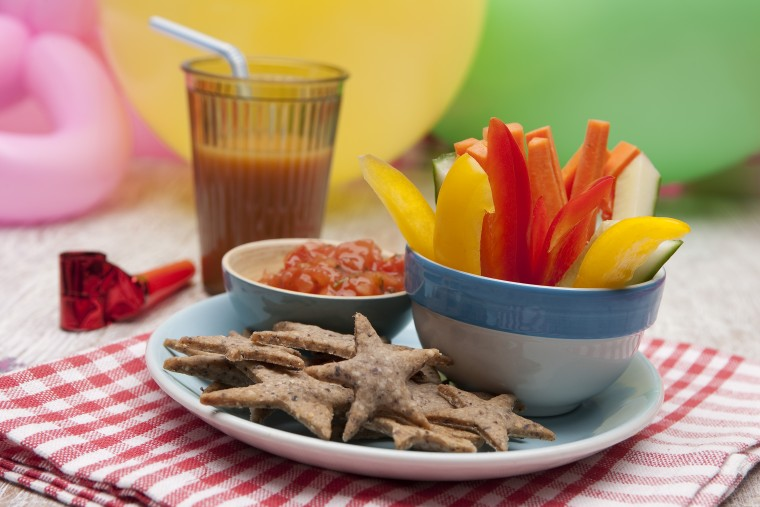 Italian-Shortbread-Shapes-and-Veggie-Sticks-and-Dip-kids-party-food