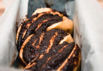 Γλυκό ψωμί με πραλίνα σοκολάτας