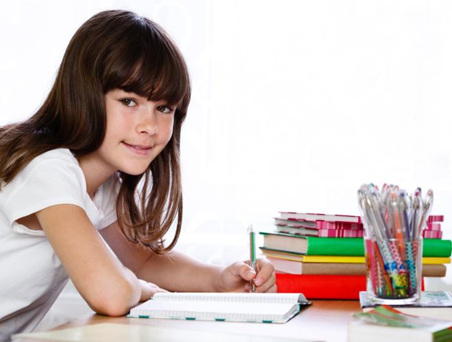 Girl learning