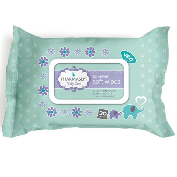 Tol Velvet Baby Soft Wipes (30 τμχ)
