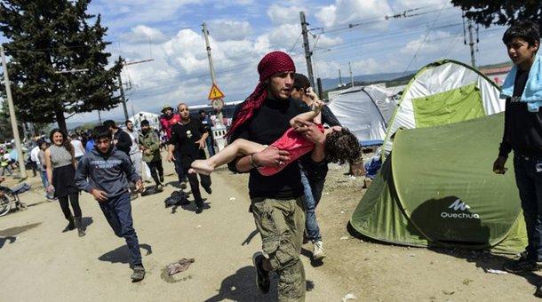 Eιδομένη: Τρία προσφυγόπουλα με τραύματα από πλαστικές σφαίρες στο κεφάλι από τα χθεσινά επεισόδια