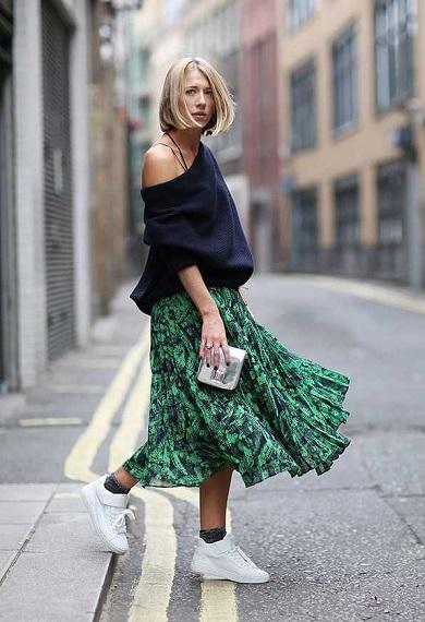 10 τρόποι για να φορέσετε sneakers με φούστα  70290fadd07