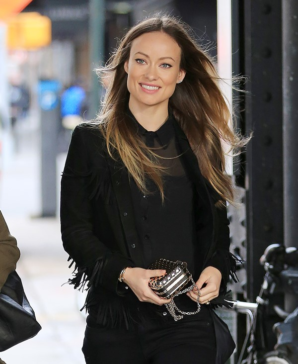 Olivia Wilde Warm brown ombre