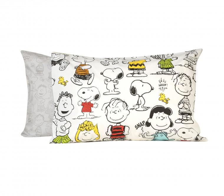 Μαξιλαροθήκη από σετ παιδικά σεντόνια μονά Snoopy Friends με φιγούρες από τη σειρά κόμικ Peanuts -20%, €31,60