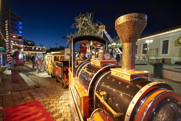 christmas factory train