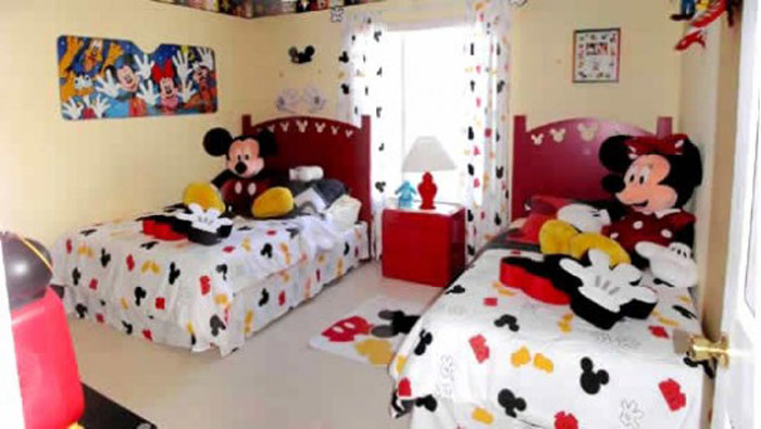 decorating-bed-nursery-bedding-ideas-cute-beige-mickey-mouse-themed-kids-bedroom-with-mickey-mouse-bedding-and-curtain