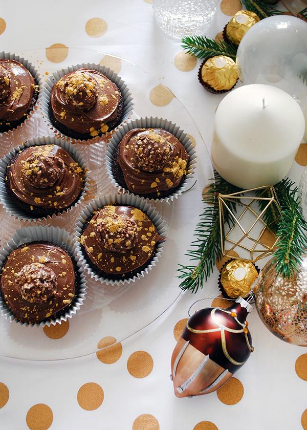 Χριστουγεννιάτικα Nutella Cupcakes