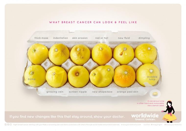 Πώς μια φωτογραφία με λεμόνια βοηθά τις γυναίκες να αναγνωρίσουν τον καρκίνο του μαστού;