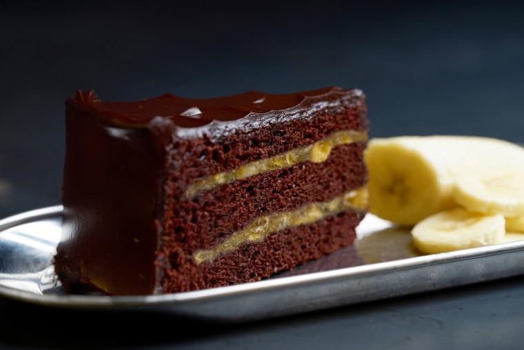 Κέικ σοκολάτας με μπανάνα