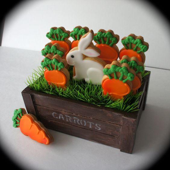ζαχαρόπαστα σε σχήμα καρότου