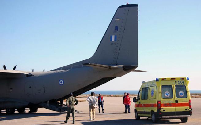Αεροδιακομιδή για δύο μικρά παιδιά στο νοσοκομείο Ηρακλείου