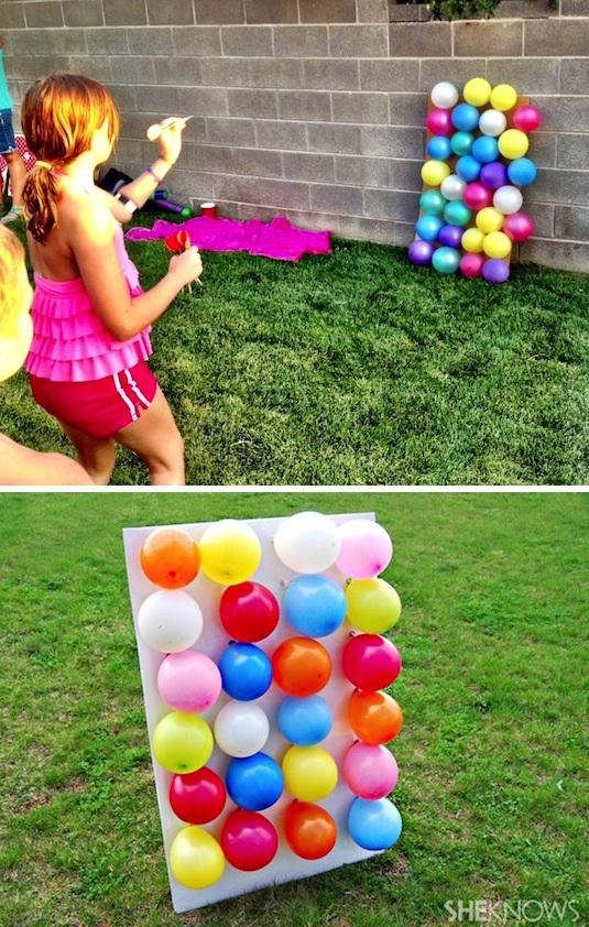 Καλοκαιρινά παιχνίδια στην αυλή, με μπαλόνια και στόχους!