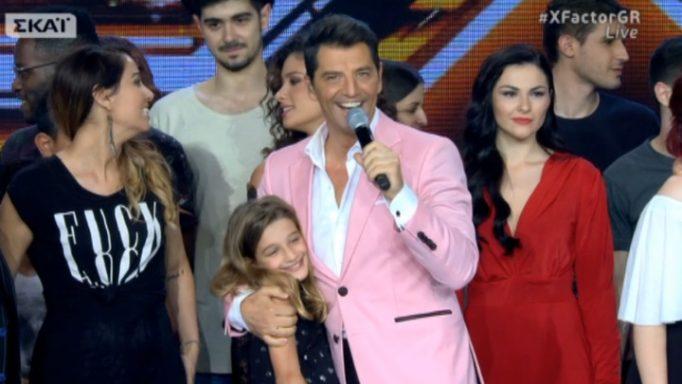 Ο Σάκης Ρουβάς ανέβασε στη σκηνή του X Factor την κόρη του, Αναστασία