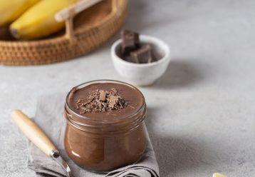 Ζελέ σοκολάτα μπανάνα