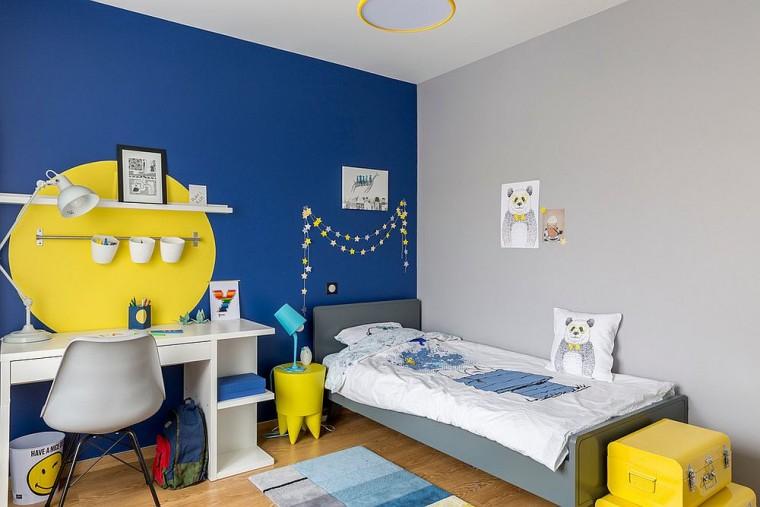 54d77956bbee Deco  Χαρούμενο κίτρινο και μπλε για το παιδικό δωμάτιο!