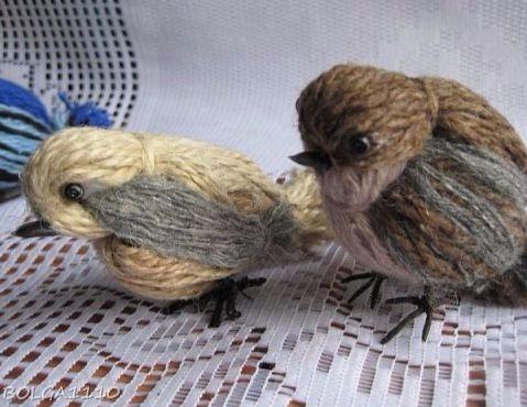 DIY: Ας φτιάξουμε μικρά πουλιά, από μαλλί πλεξίματος!