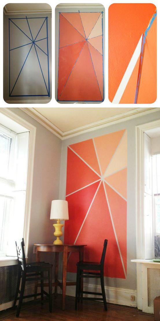 Deco: Διακόσμηση με χρωματιστά τρίγωνα στους τοίχους-10 προτάσεις για όλους τους χώρους!