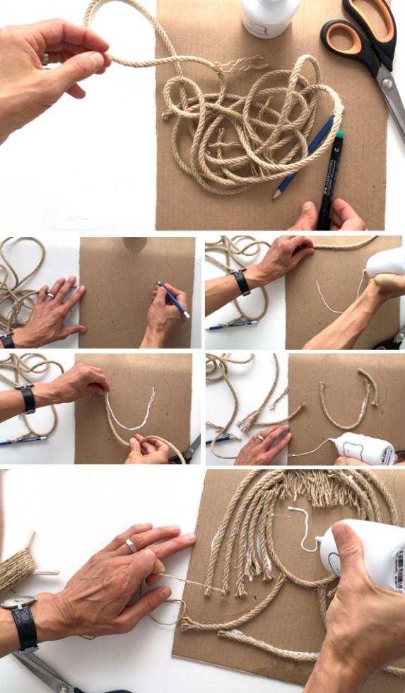 Χειροτεχνίες για παιδιά: Πορτραίτα με σκοινί!