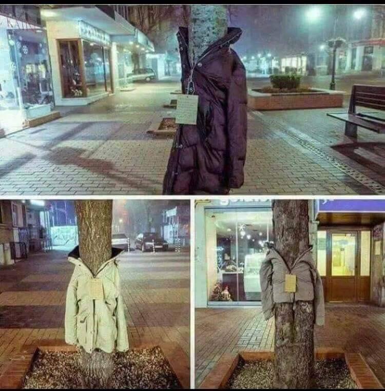 Στη Λάρισα ντύνουν τα δέντρα με… μπουφάν για έναν πολύ καλό σκοπό!