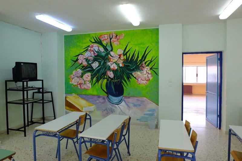 Τρίκαλα: Πώς οι αίθουσες αυτού του σχολείου γέμισαν με πίνακες ζωγραφικής γνωστών καλλιτεχνών