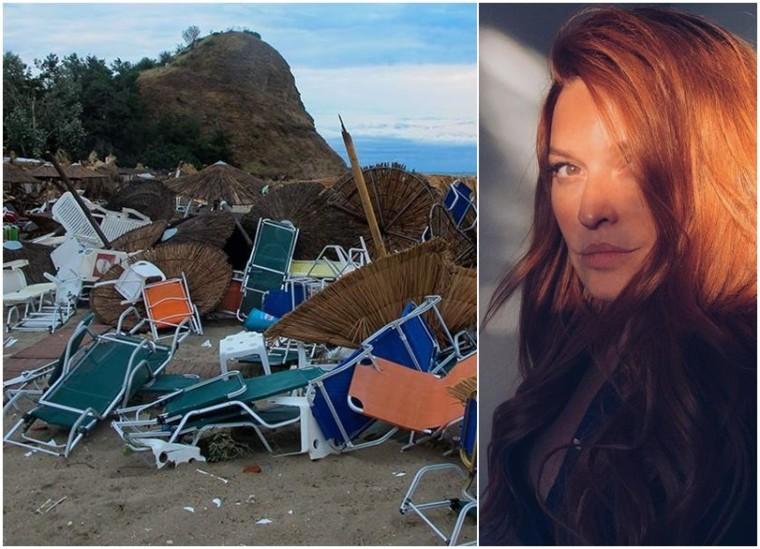 «Στείλτε βοήθεια»: Η Σίσσυ Χρηστίδου βρέθηκε μαζί με τα παιδιά της στη θεομηνία της Χαλκιδικής