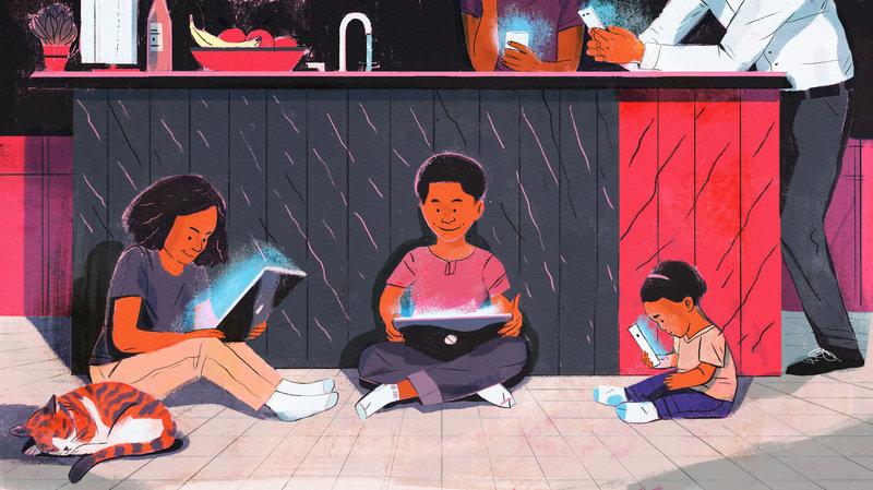 Αφού εσύ είσαι «κολλημένος» με το κινητό σου πώς να μην είναι το παιδί σου;