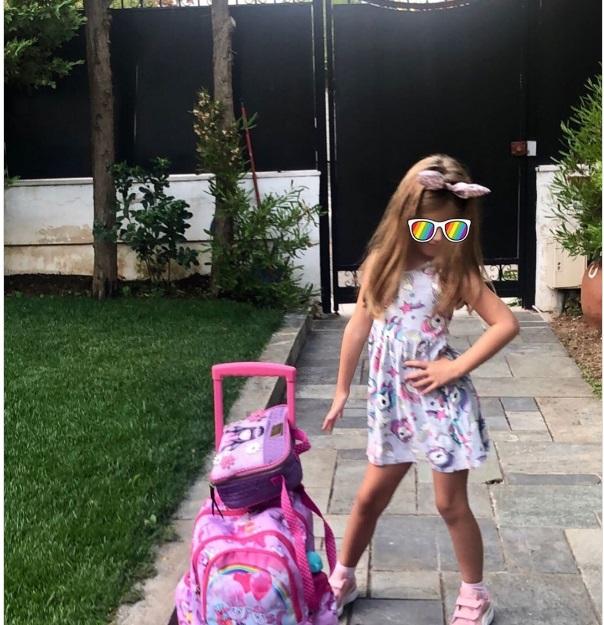 Πρώτη μέρα στο σχολείο: Διάσημοι Έλληνες γονείς φωτογραφίζουν τα παιδιά τους
