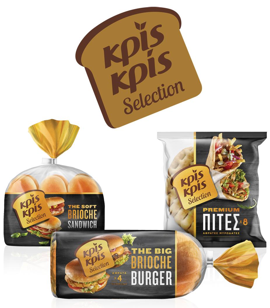 """Νέα σειρά Κρίς Κρίς """"Selection"""" Απολαυστικά Brioche Burger & Sandwich και νέες Premium Πίτες"""