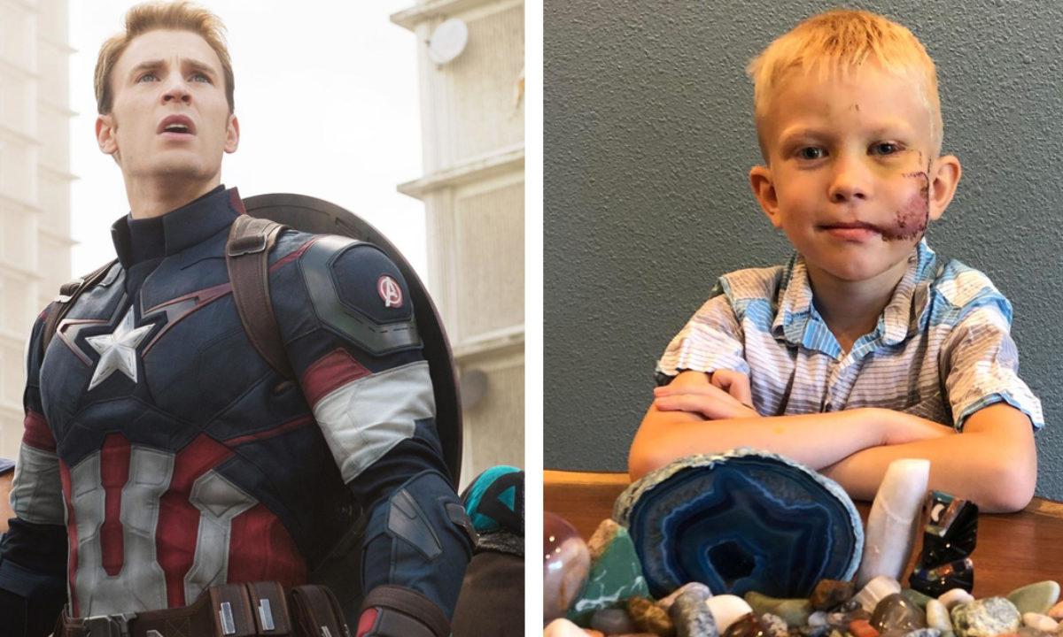 O «Captain America» χαρίζει την ασπίδα του στον 6χρονο που έσωσε την αδελφή του από επίθεση σκύλου