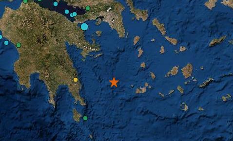 Ισχυρός σεισμός 5,1 Ρίχτερ ανοιχτά της Ύδρας