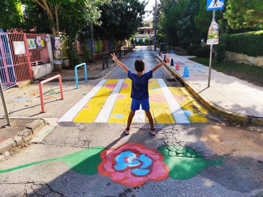 Δ. Χαλανδρίου: Αυτά τα 3 Δημοτικά Σχολεία απέκτησαν πολύχρωμες διαβάσεις για την ασφαλή μετακίνηση των μαθητών