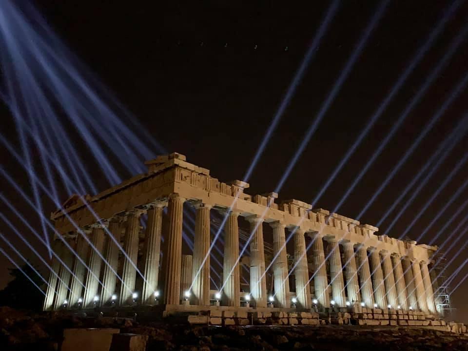 Πότε φωτίστηκε για πρώτη φορά η Ακρόπολη και τι άλλαξε μετά τη νέα φωταγώγηση