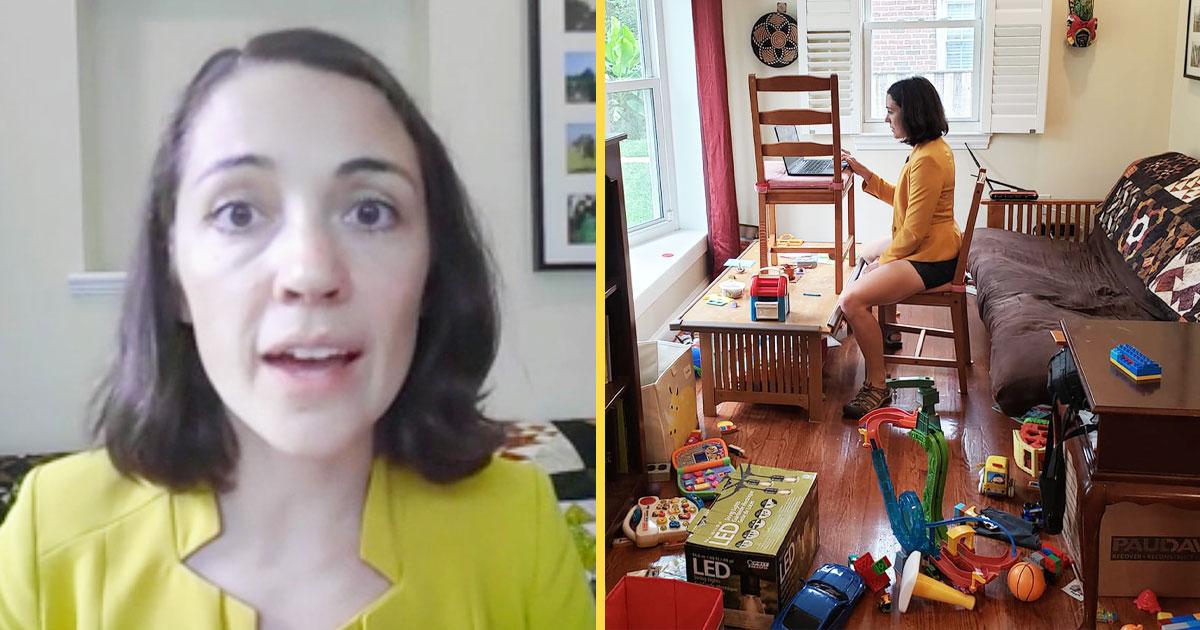 """Μητέρα, επιστήμονας και εργαζόμενη από το σπίτι: Η φωτογραφία που """"έριξε"""" τα social media"""