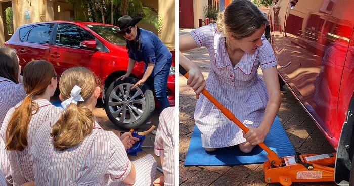 Γνωρίστε το σχολείο που σπάει τα στερεότυπα και μαθαίνει στα κορίτσια πώς να συντηρούν ένα αυτοκίνητο!