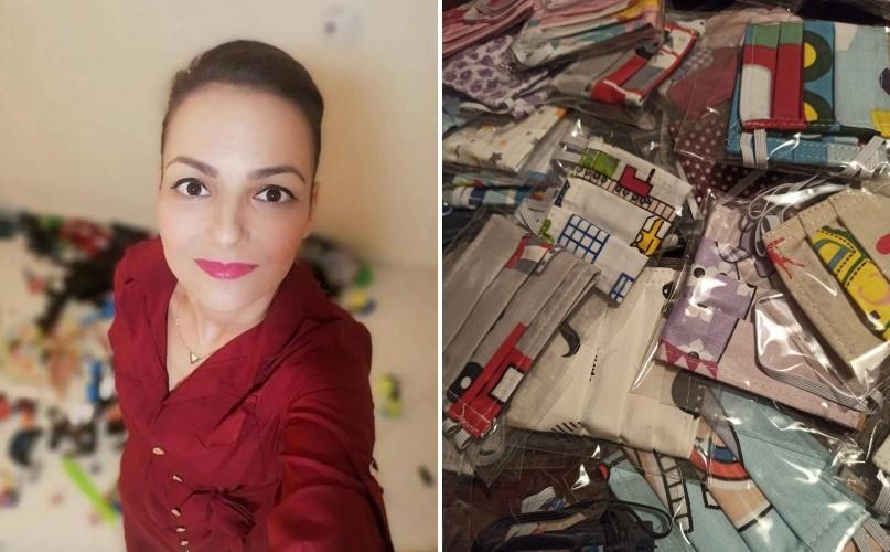 Αξιέπαινη: Αυτή η μαμά από τη Θήβα έραψε βαμβακερές μάσκες για τα παιδιά που φιλοξενούνται στον ξενώνα της Φλόγας