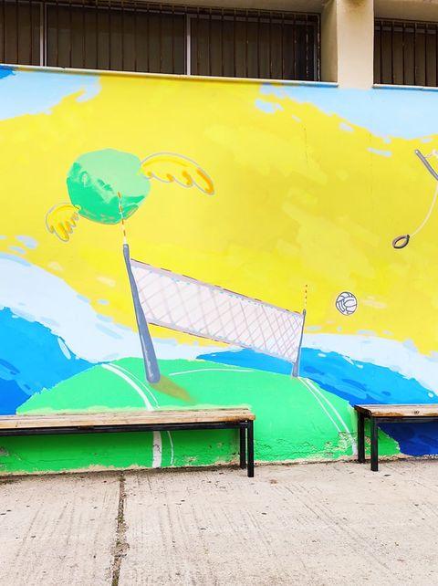 Το 2ο Δημοτικό Σχολείο Μεταμόρφωσης απέκτησε υπέροχες τοιχογραφίες στο προαύλιο του
