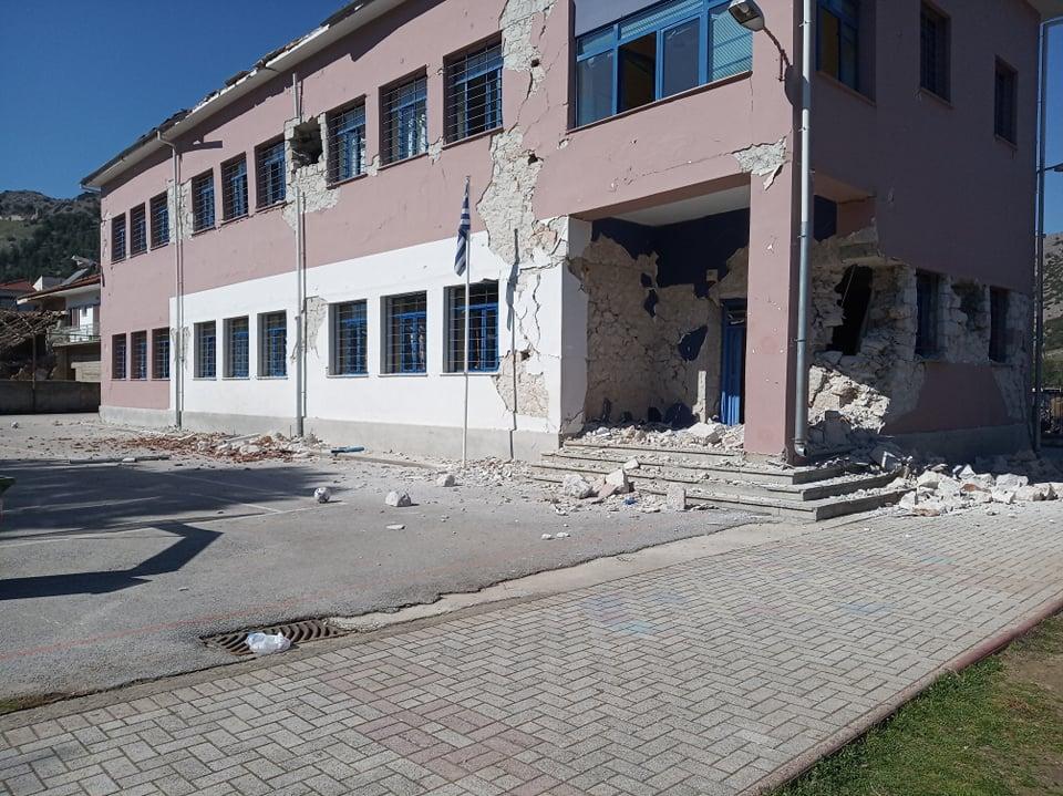 Σεισμός στην Ελασσόνα: Κατάρρευση τμήματος σχολείου στο Δαμάσι – Από θαύμα σώθηκαν οι μαθητές (φωτό)
