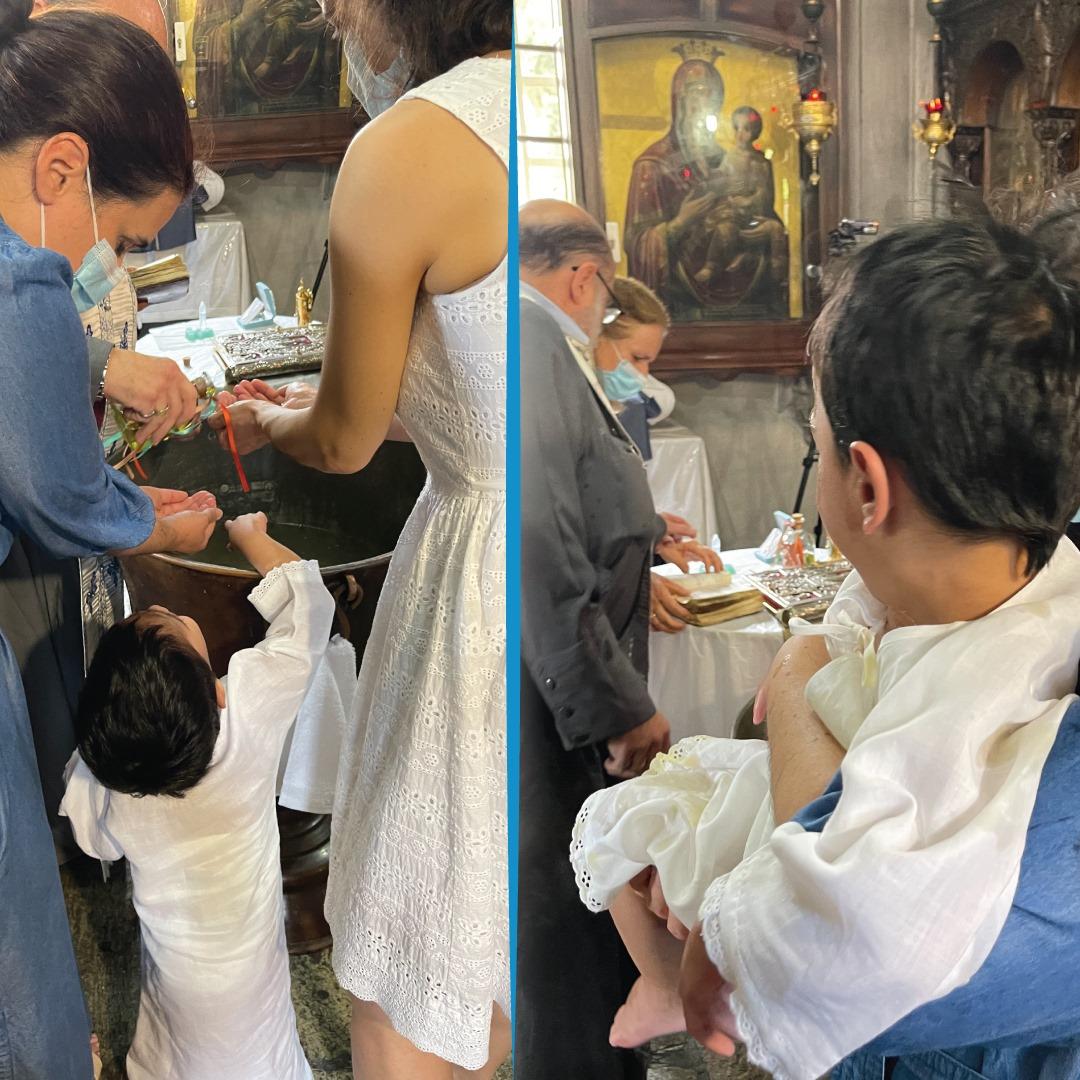 Η συγκινητική βάφτιση του 4χρονου Ταξιάρχη που παράτησαν νεογέννητο οι γονείς στο Παίδων