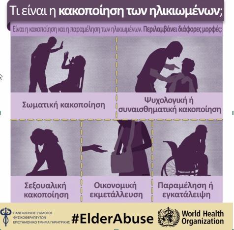 Οι ηλικιωμένοι υφίστανται κακομεταχείριση μέσα στο ίδιο τους το σπίτι ή από φροντιστές