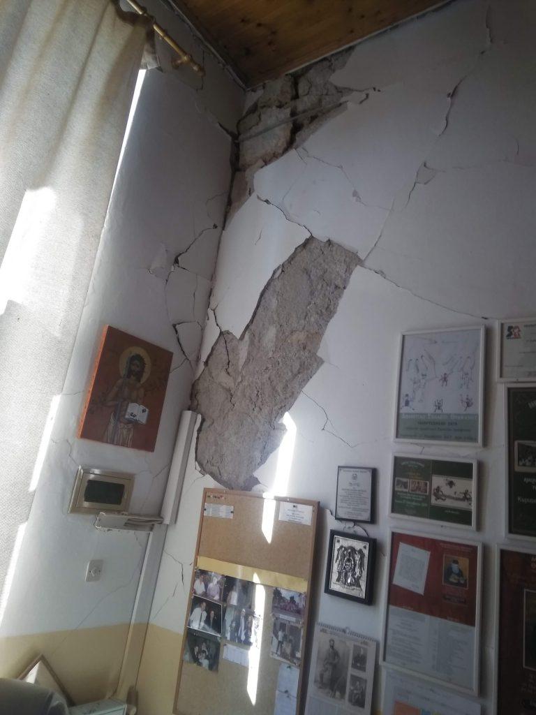 """Σεισμός στη Κρήτη: Καταστράφηκε το Δημοτικό Σχολείο Θραψάνου - """"Μας βοήθησε ο Θεός"""" λέει ο διευθυντής του"""